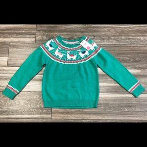 Mini Boden Llama Sweater NWT! Size 5-6Y